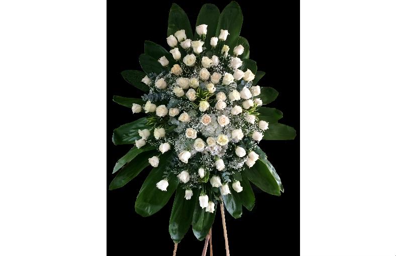 Fúnebre Rosas Blancas Floristería Liz Flores A Domicilio